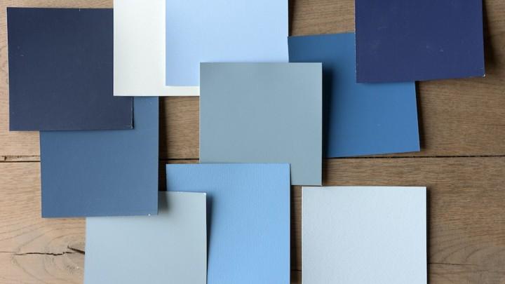 Blauw tinten interieur