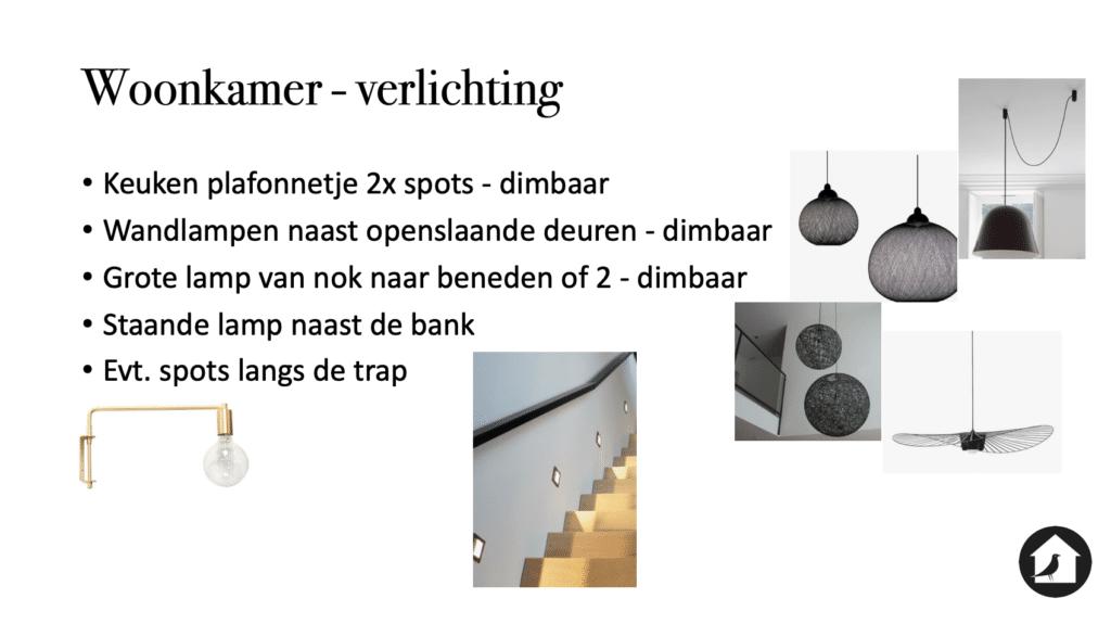Verlichting in de woonkamer