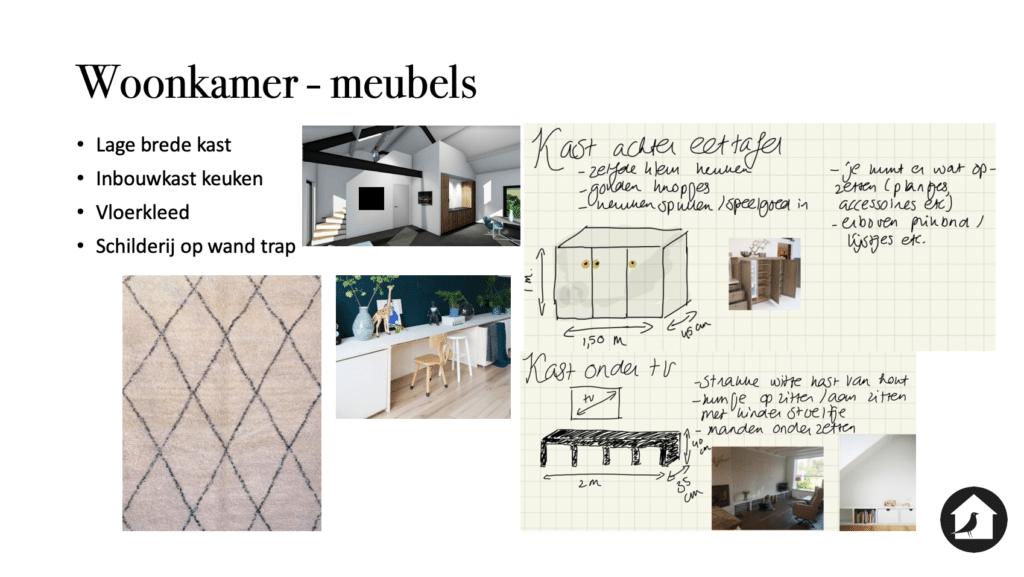 Inbouw elementen woonkamer maatwerk kast