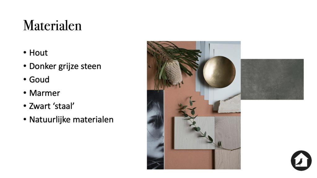 Materialen ontwerp woonhuis Zwolle Le Living