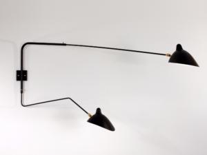 Serge Mouille wandlamp zwart_Le Living
