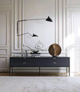 Wandlamp zwart Serge Mouille