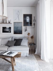 Hygge in huis platen aan de muur