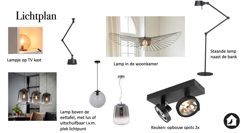 Lampenplan / lichtplan huis Oog & Al