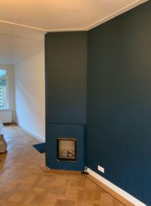 Blauwe muren jaren dertig huis