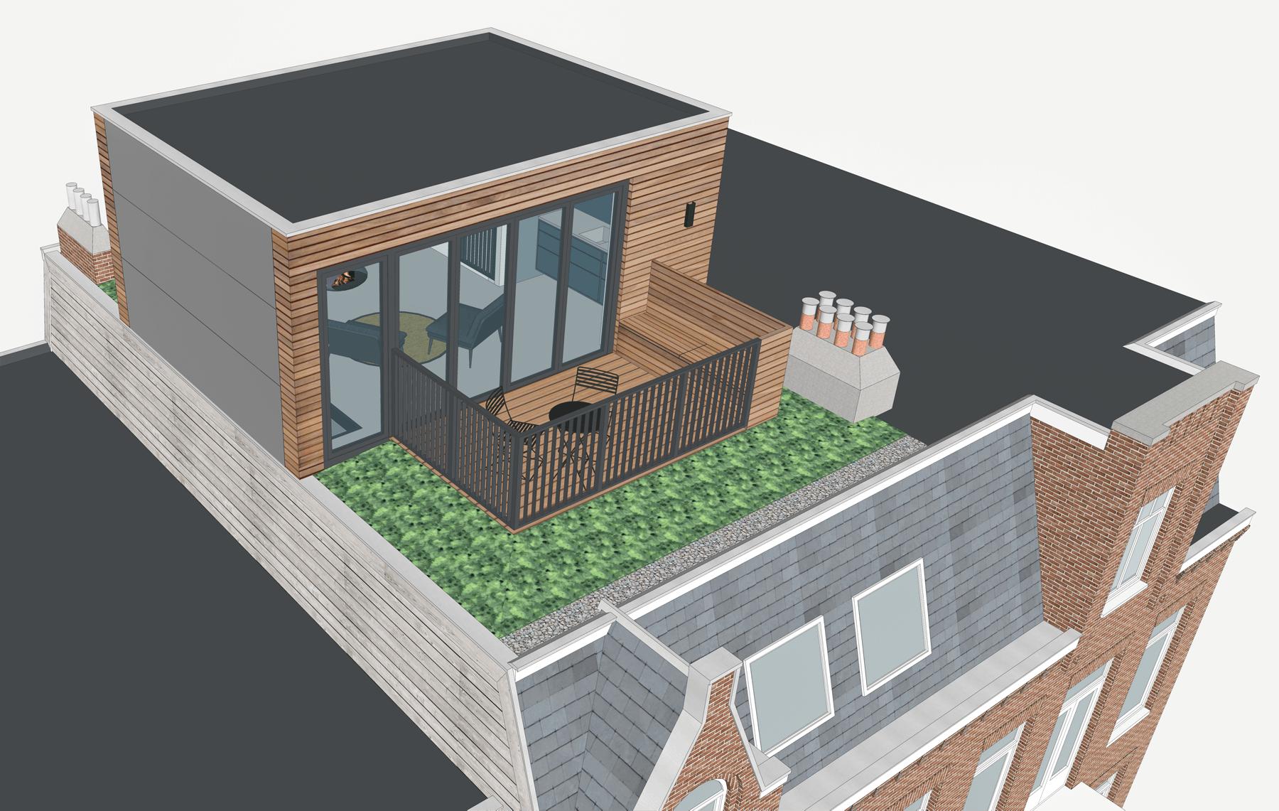 Dakopbouw 3D van Alphen Architecten