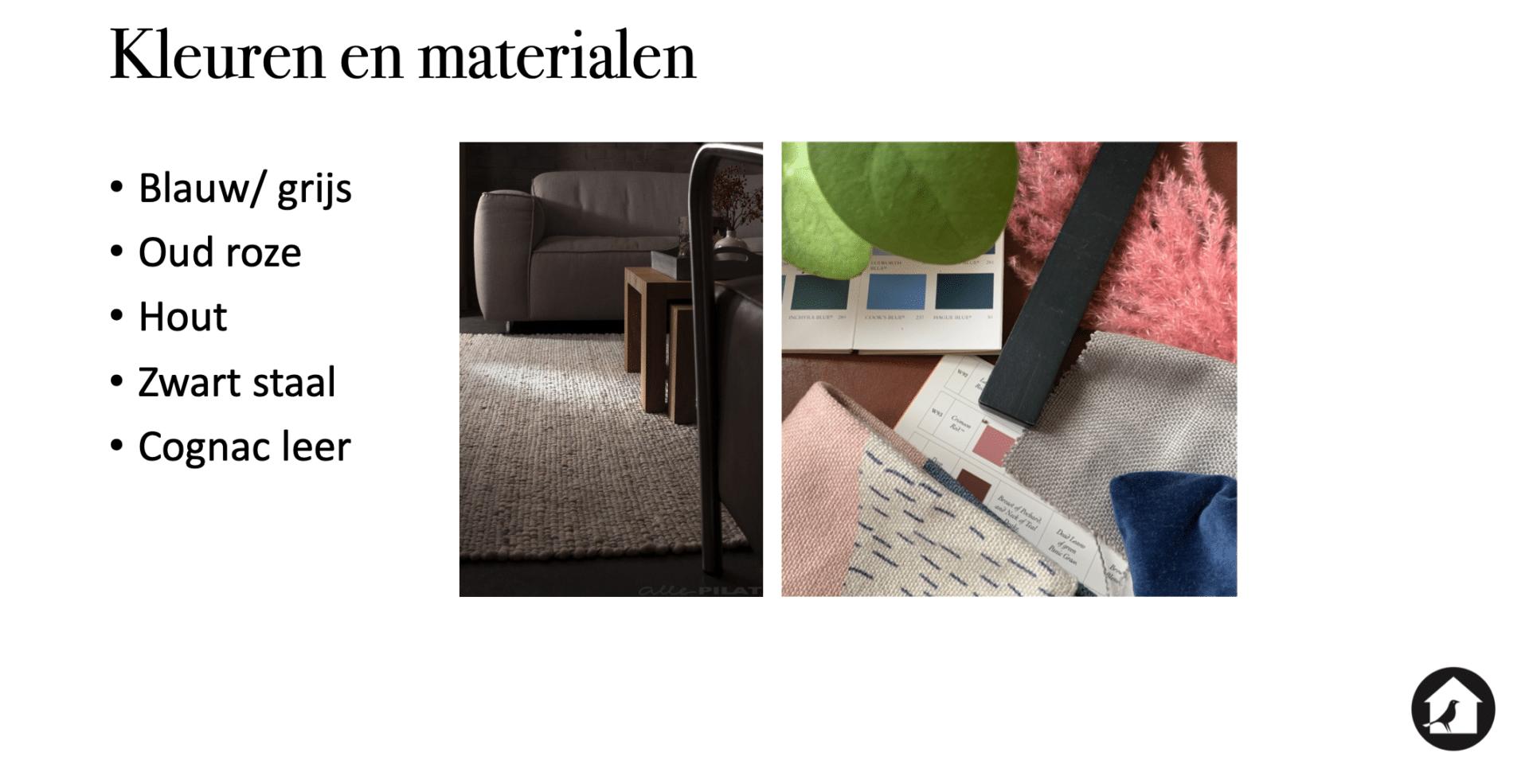 Kleuren & Materialen interieur huis Vught