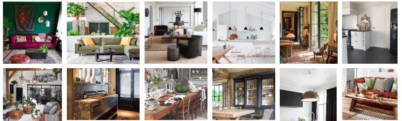 Verschillende interieurstijlen Le Living