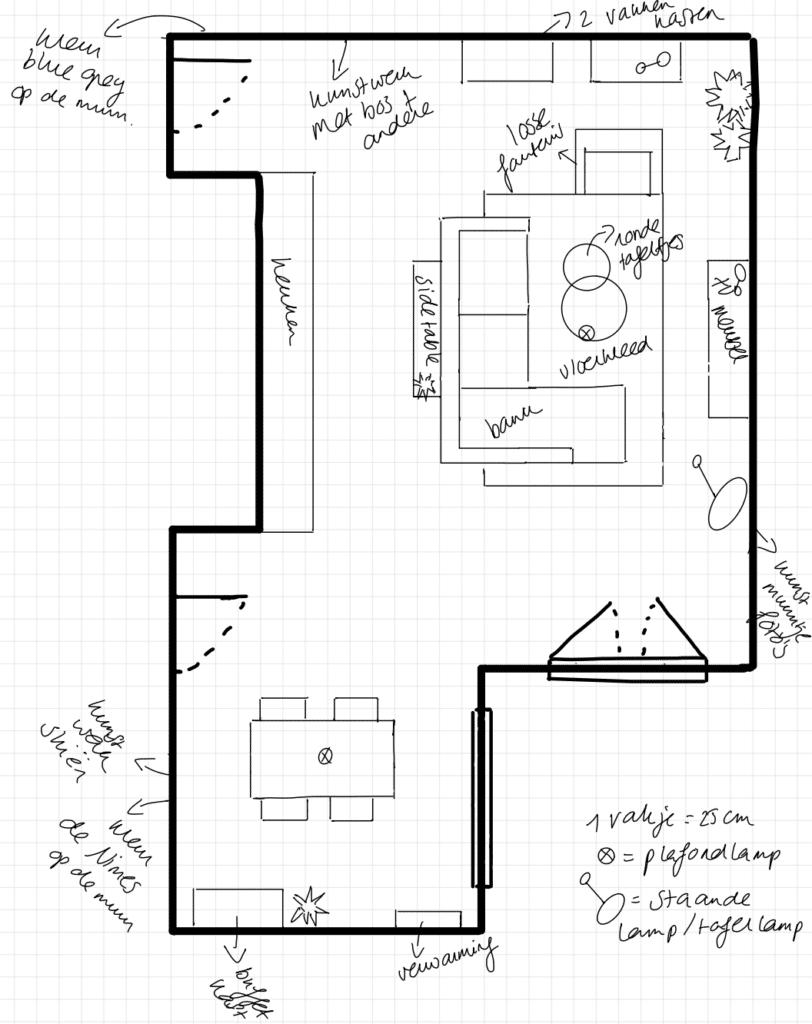 Plattegrond appartement Huizen