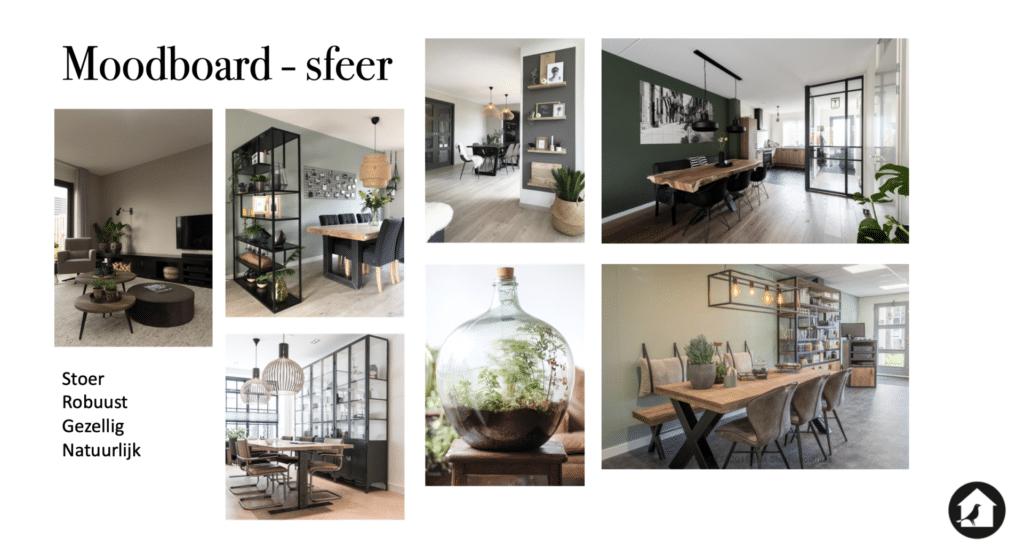 Moodboard sfeer/ stijl industrieel appartement Huizen