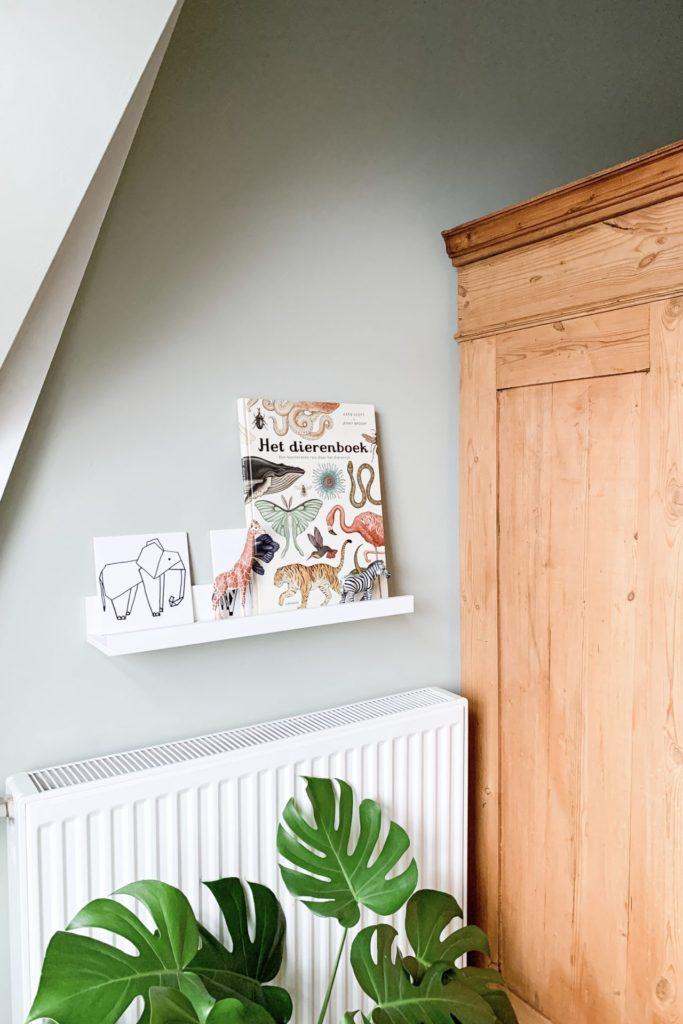 Ikea fotoplank met decoratie dierenkamer