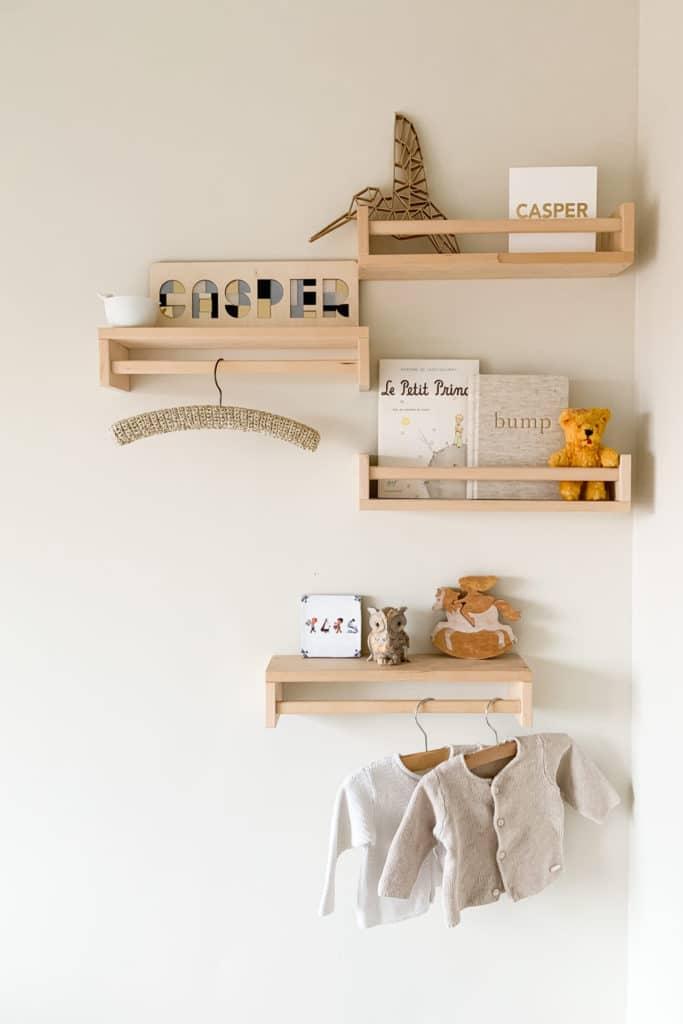 Le Living babykamer Ikea plankjes
