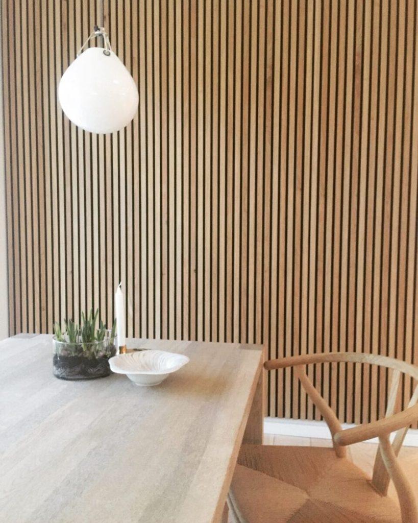 Houten wandpaneel houtfabriek